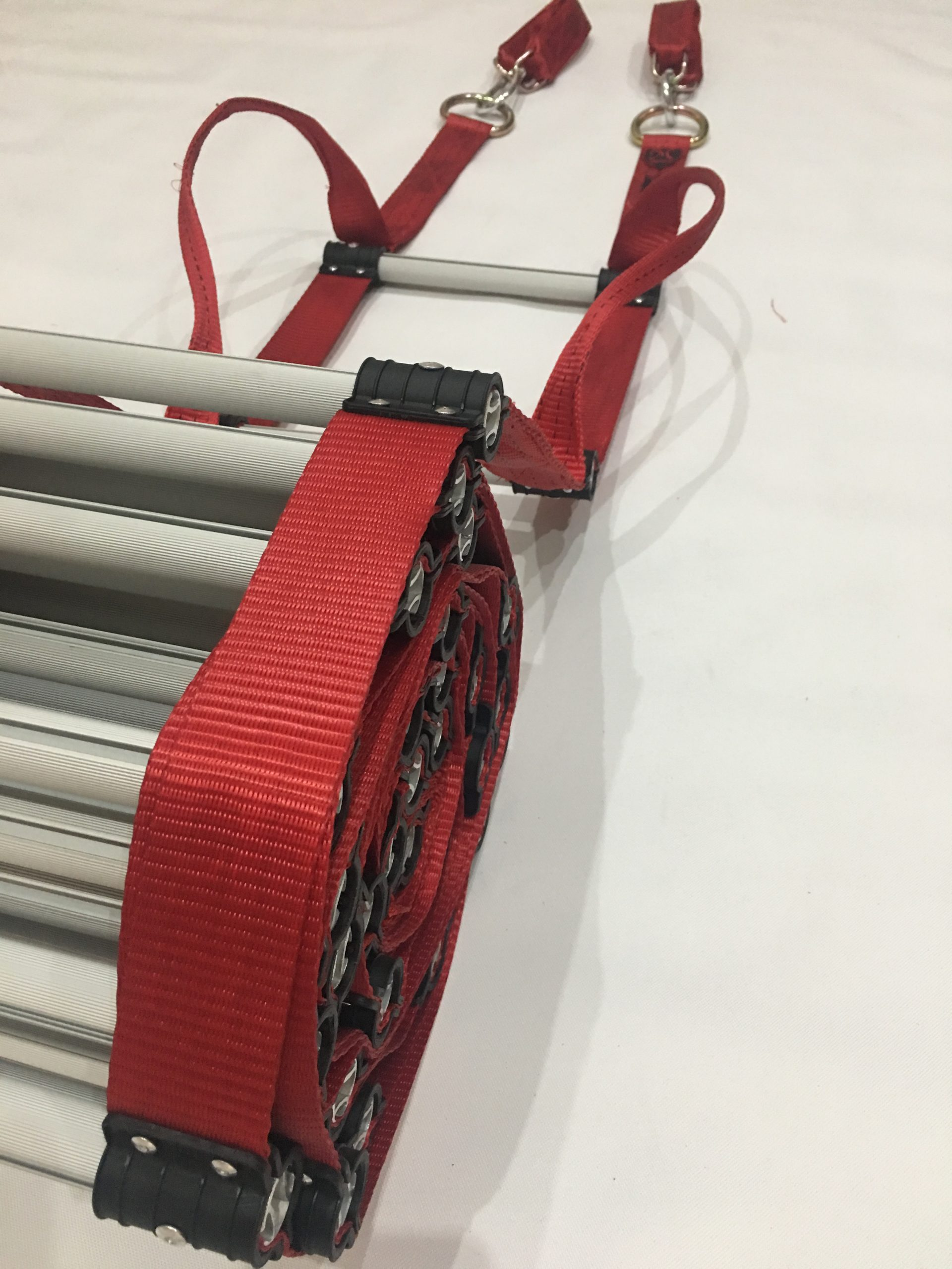 Fire Retardant Rope Ladder with Webbing Handles