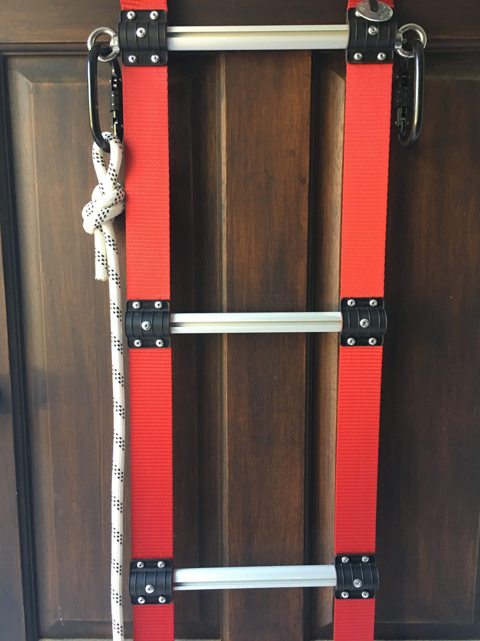 Fire Retardant Rope Ladder with Carabiners and Rope